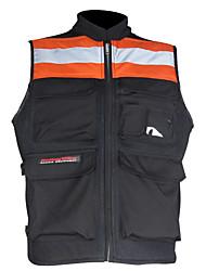 Motorcycle Adjustable Reflective Visibility  Base Vest With Pocket And Zipper (Green / Orange,M-XXXL)