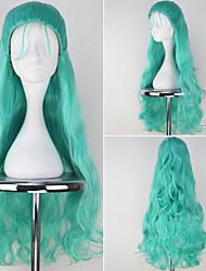 HITMAN REBORN Ki Kyo Long Wavy Bluish Green Anime Cosplay Full Wig