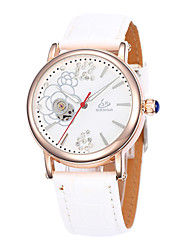 Women's  Fasion Hollow Out  Full-Automatic  Round Dial Leather Band Machine Analog Wrist Watch(Assorted Color)
