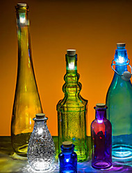 cortiça em forma usb recarregável luz conduzida da noite de vinho vazia lâmpada garrafa