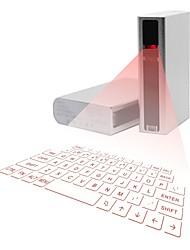 projeção a laser sem fio Bluetooth teclado virtual teclado sem fio icyberry com banco do poder 5200mAh