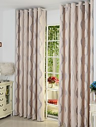 Designer Two Panels Stripe  Living Room Poly  Cotton Blend Panel Curtains Drapes