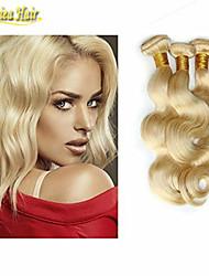 "3 Pcs/Lot 8A! Light Blonde 613 Color Brazilian Hair 100% Unprocessed Hair,Length 10""-32"",No Shedding No Tangle"