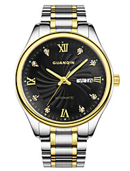 New GUANQIN Men's Automatic Mechanical Watch Stainless Steel Waterproof Watch Business Men Watch