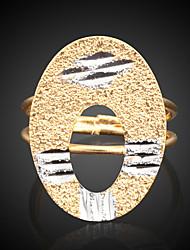 Bettr  18K Gold Vacuum Plating Gold Retro Simple Couple Rings