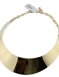 Personality Mirror Simple Gold Trend Necklace*1pc