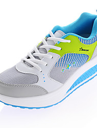 Women's Shoes Tulle Spring / Summer / Fall / Winter Roller Skate Shoes / Comfort Lace-up Blue / Pink / Metallic Walking