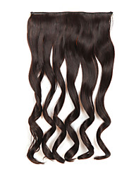 Fake Hair 24 Inch Long Curly 5 Clips In Hair Extensions Heat Resistant Synthetic