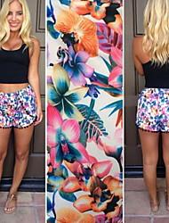 Informell/Bedruckt FRAUEN - Shorts ( Elasthan/Polyester )