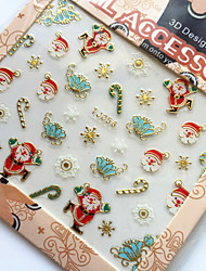 3D Gilding Christmas Series Butterfly Nail Art Stickers