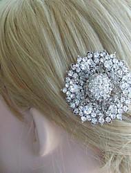 Bridal Headpiece Silver-tone Wedding Hair Comb Rhinestone Crystal Flower Hair Comb Bridal Hair Comb Wedding Jewelry