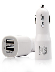 12V 2.1A&1A 2 USB Ports Universal Dual USB High Speed Car Charger for IPhone Smartphone