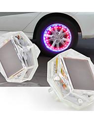 energia solare ha condotto la luce del flash tappo della valvola ruota per la bicicletta auto moto ruota motorbicycle luce pneumatico luce