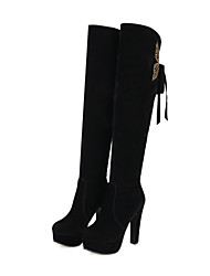 Women's Boots Fall / Winter Shoes & Matching Bags Party & Evening / Casual Chunky Heel Crystal / BowknotBlack