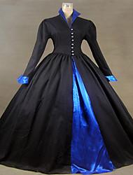 Steampunk®Victorian Tudor Gothic Satin Cotton Dress Gown PUNK Halloween Costume