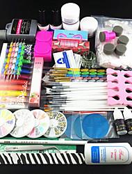 Set 77pcs akryl pudr štětec pigment hřebík