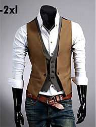 Men's Work/Casual Slim Two-piece Like Vest
