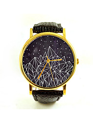 Geometric Mountain Unisex Watch Women's Watch Men's Watch Minimalist Nature Modern Geometry Aztec Navajo Analog Gift Idea Cool Watches Unique Watches