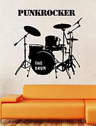 Wall Stickers Wall Decals Style Shelf Drum PVC Wall Stickers