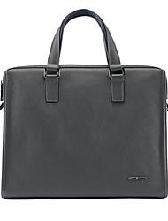 Formal / Casual / Oficina y Trabajo - Bolso de Hombro / Tote / Portafolios / Bolsa de Portátil / Cross Body Bag - Piel de Vaca - Gris -
