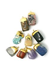 beadia 1pc pendentifs en pierre naturelle forme d'irrégularité pendentifs bijoux bricolage pour les femmes collier 9 sortes de pierres à