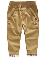 Kid's Cotton Casual Pure Color Elasticity Pants