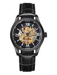homens de luxo de alto grau guanqin relógio de cristal de safira desporto auto-liquidação oca relógio de pulso luminoso automática