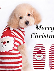 Coats / Sweaters for Dogs / Cats Red Winter Christmas XXS / XS / S / M / L / XL / XXL Mixed Material