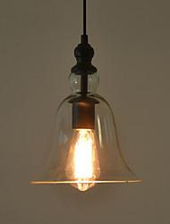Vintage Industrial Retro Glass Chandelier Bar Creative Minimalist Living Room Bedroom Bedside Aisle Lamp Clear Colour