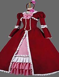 steampunk®wine rouge gothique robe victorienne partie longue vêtements de théâtre robe de reconstitution
