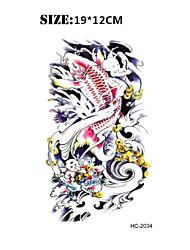 8PCS New Halloween Temporary Tattoo Waterproof Sexy Armband Tattoo Body Art/Fish Vs Totem/Big Fake Tatoo Stickers