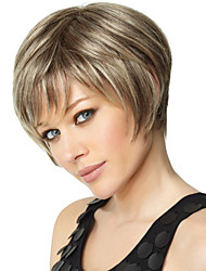 New Fashion Lady Popular High Temperature Wire Short Straight Hair Wig  Can Be Very Hot Can Be Dyed