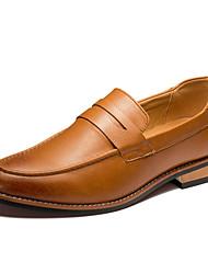 Zapatos de Hombre Mocasines Casual Cuero Negro / Amarillo