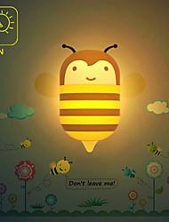 Cute Cartoon Honey Bee Light Induction Control LED Wall Lamp Night Light Night lamp Children Christmas Birthday Gift