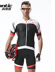 SANTIC® Cycling Jersey with Bib Shorts Men's Short Sleeve BikeBreathable / Quick Dry / Anatomic Design / Ultraviolet Resistant / High