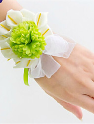 Small Size Green Calla Wedding/Party Wrist Corsages for the Bridesmaid & Bride(8*10cm)