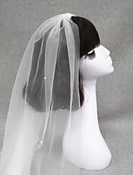 Wedding Veil One-tier Fingertip Veils/Headpieces with Veil Cut Edge
