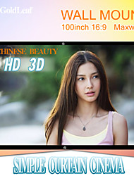RedGoldLeaf® 100 Inch 16:9 Maxwhite Wall Mount Screen