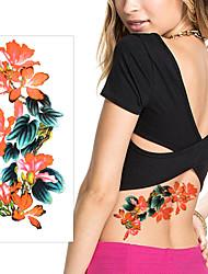5Pcs Temporary Tattoos Body Art Flower Waterproof