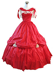 Steampunk®Red Halloween Party Dress Civil War Southern Belle Ball Gown Dress