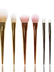 7pcs/set BlingBling Metallic Color Makeup Brushes Powder brush Blush Brush Eyeshadow Eyeliner Lip Brush Set
