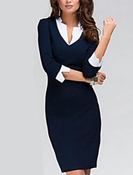 Women's Sexy Bodycon Cute  Plus Sizes Above Knee Dress  (Knitwear)