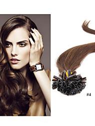 """100g / lot """"-30"""" extension de cheveux 18 brésiliens des extensions de cheveux vierges de kératine de l'ongle u Astuce extension de cheveux"""
