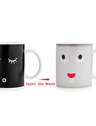 Smile Face Changing Magic Morning Coffee Mug Cup, Multi Color