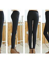 DONNE - Pantaloni - Informale / Lavoro A vita medio-alta - magro Cotone