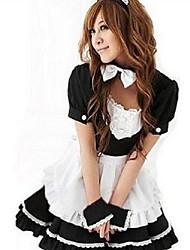 Costumes de Cosplay Uniformes Fête / Célébration Déguisement d'Halloween Blanc Incarnadin Bleu Mosaïque Robe Halloween Carnaval Nouvel an