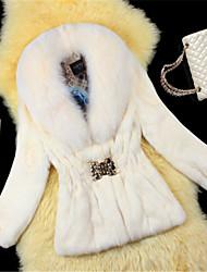 Vintage / Informell Bubikragen - Langarm - FRAUEN - Mäntel & Jacken ( Gemischte Wolle )