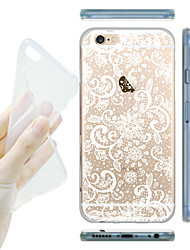 MAYCARI® Dreamy Flowers Transparent TPU Back Case for iPhone 6/iphone 6S