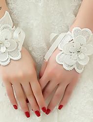Wrist Length Fingerless Glove  Bridal Gloves