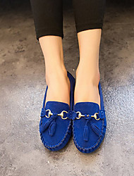 Women's Spring Summer Fall Ballerina Fabric Outdoor Casual Low Heel Bowknot Metallic toe Black Blue Yellow Red
